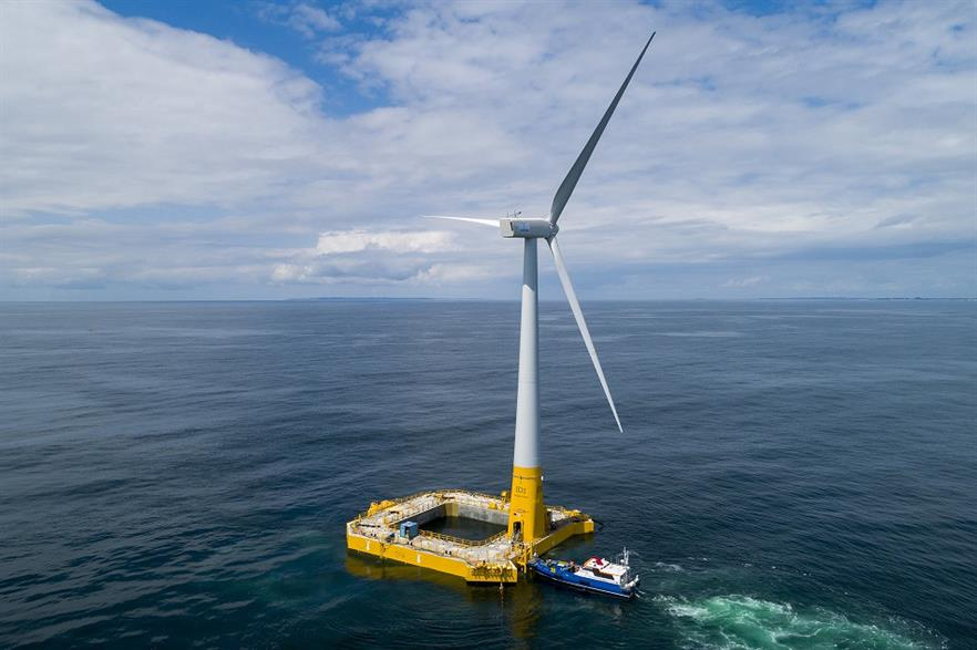 Ideol's 2MW Floatgen demonstrator project is France's only offshore wind capacity operating today (pic: Ideol)