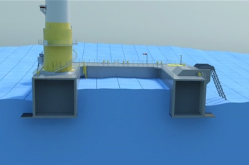 "Ideol's ""dampening pool"" floating foundation design"
