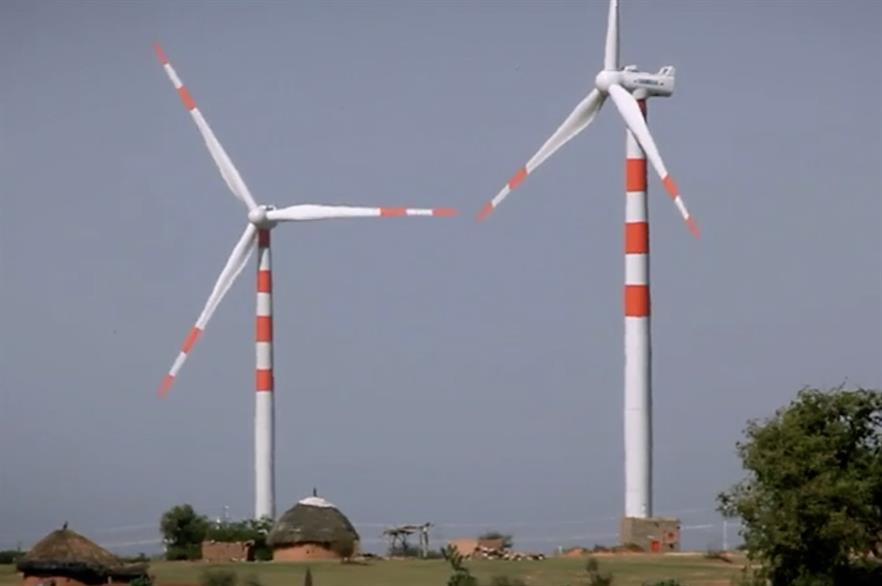 Fitch predicts India will have 82.3GW installed by the end of 2028 (pic: Inox Wind)