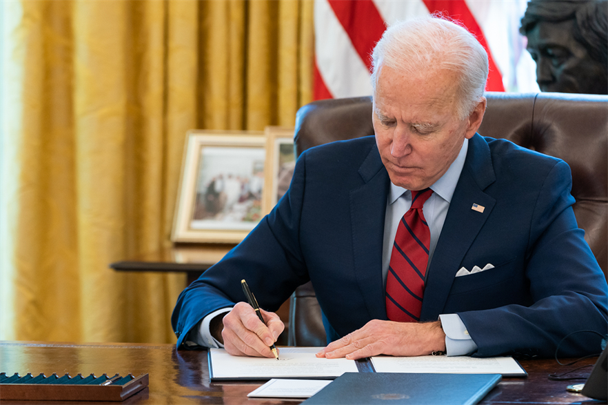 Joe Biden's $6 trillion budget is likely to meet with some opposition (pic: Official White House Photo by Adam Schultz)
