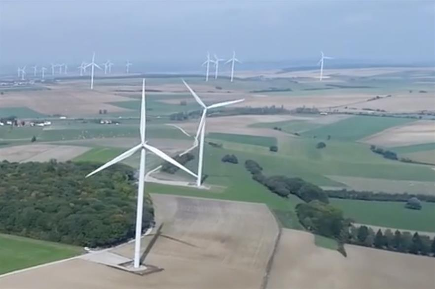 Kallista's neighbouring Morlange and Zondrange wind farms (above) have respective capacities of 9.6MW and 12.5MW