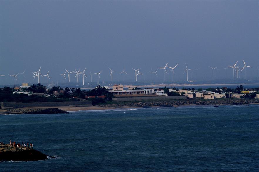 Wind farm in Kanyakumari, Tamil Nadu (pic credit: Wikimedia Commons)