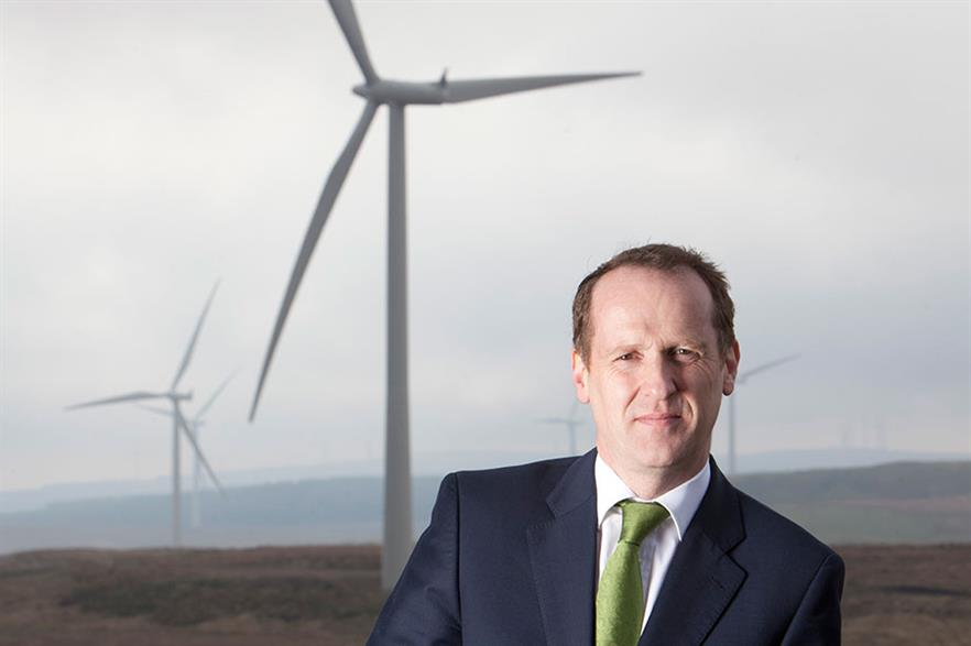 Keith Anderson at Scottish Power's 539MW Whitelee project near Glasgow, the UK's biggest onshore wind farm
