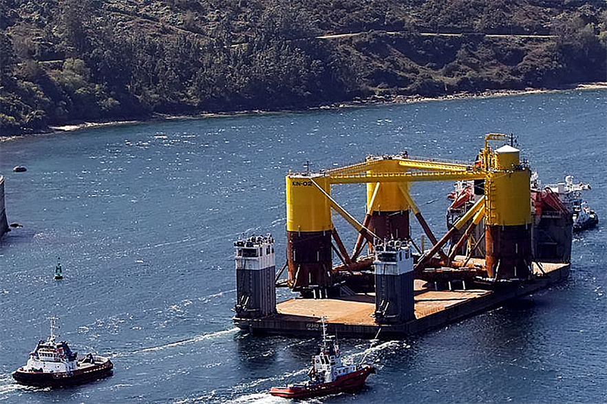Iberdrola is working on its offshore projects with Spanish suppliers Navantia and Windar, which have produced floating platforms for the Kincardine project currently being installed in Scotland
