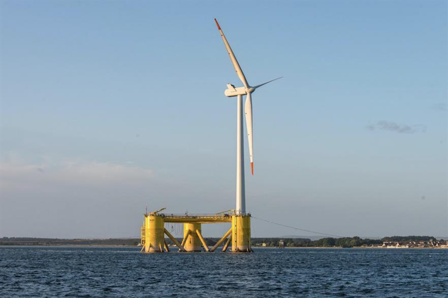 A demonstration 2MW Vestas turbine was commissioned at the Kincardine site last year