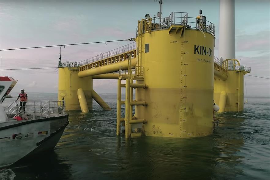 Moreld member Vryhof previously supplied the mooring system to the Kincardine floating offshore wind farm (above)