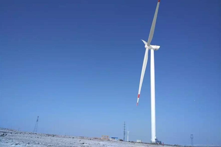 The prototype of Goldwind's 3MW-platform turbine in China