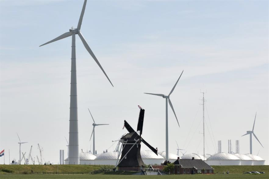 Prototype of Lagerwey's new direct-drive 4.5MW turbine testing in the Netherlands