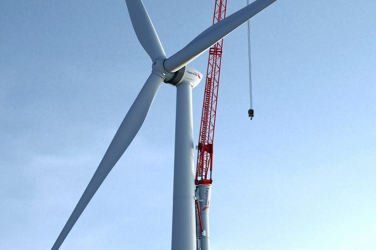 Lagerwey unveiled plans for a turbine climbing crane in June
