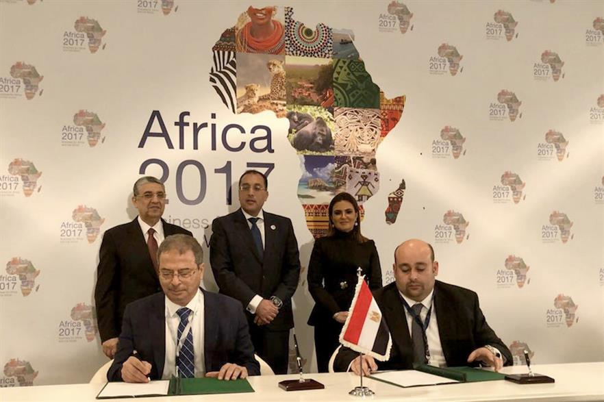 The initialling of the Lekela-Egyptian Electricity Transmission Company power deal