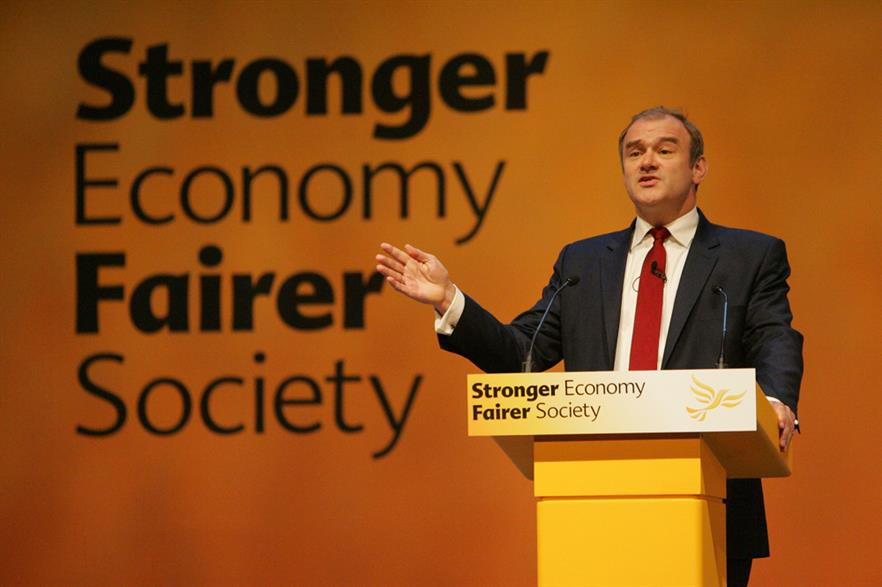 Energy secretary Ed Davey delivers his speech in Glasgow (Pic: Liberal Democrats/Dave Radcliffe)