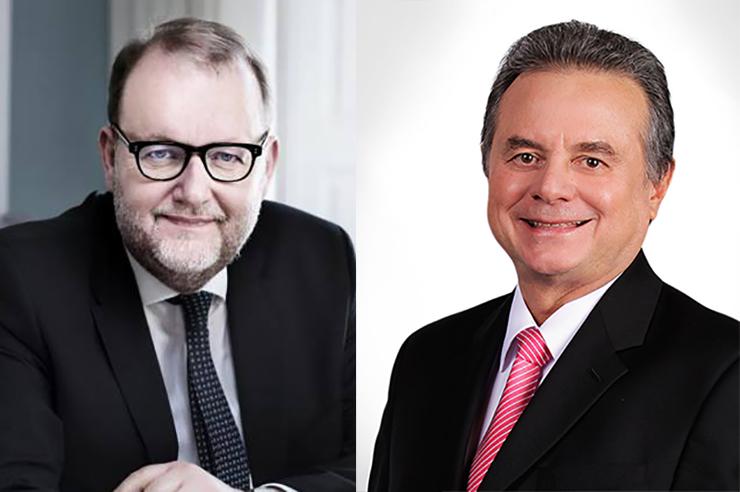 Danish energy minister Lars Lilleholt (left) met Mexican counterpart Pedro Joaquin Coldwell in Denmark