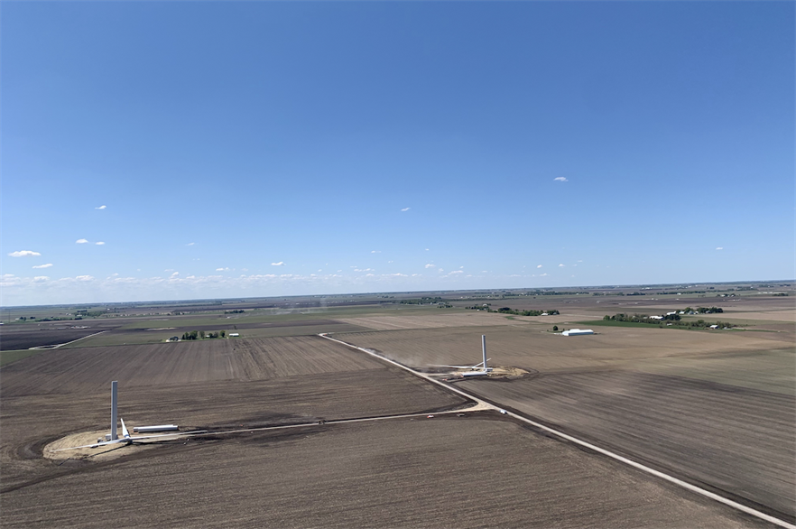 Lincoln Land onshore wind farm under construction (pic credit: Ares Management Corporation)