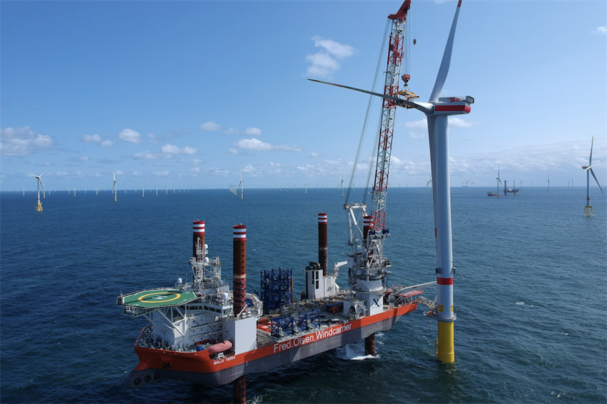 Installation of MHI Vestas turbines at the Borkum Riffgrund 2 wind farm