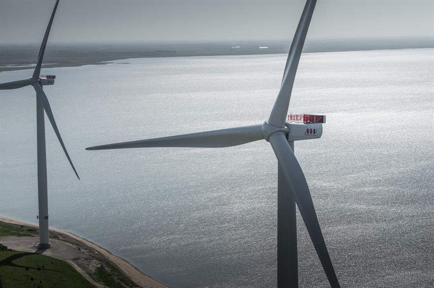 Fifty MHI Vestas V164 8MW turbines will be installed at the 400MW Horns Rev 3 project