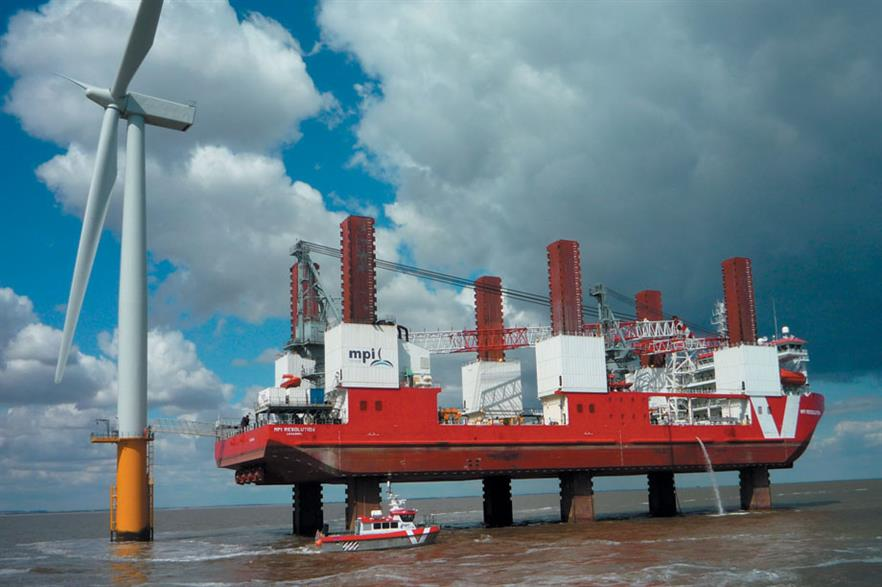 Crane growth… MPI Resolution, one of the early installation vessels, was given a larger crane in 2011