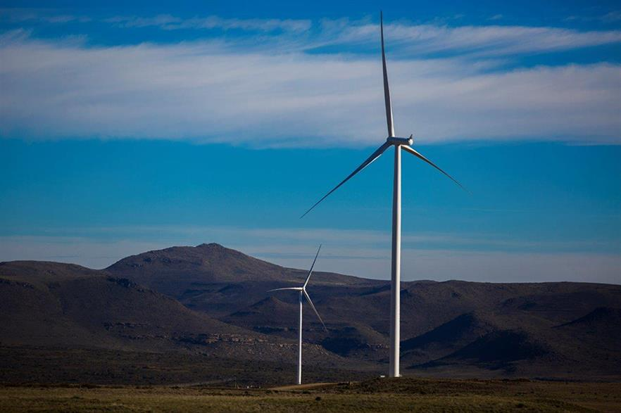 Lekela Power's 80MW Noupoort wind project under construction in South Africa