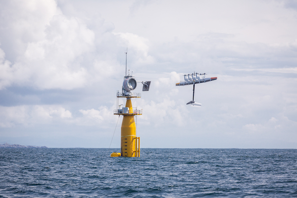 Makani ran the first demonstration flights of its 600kW carbon-tether kite from a floating platform off the coast of Norway last year