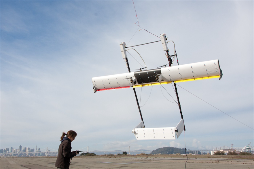 An early Makani prototype being tested in California (pic credit: X)