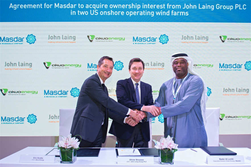 The agreement was signed at Sustainability Week 2019 in Abu Dhabi (pic: Masdar)