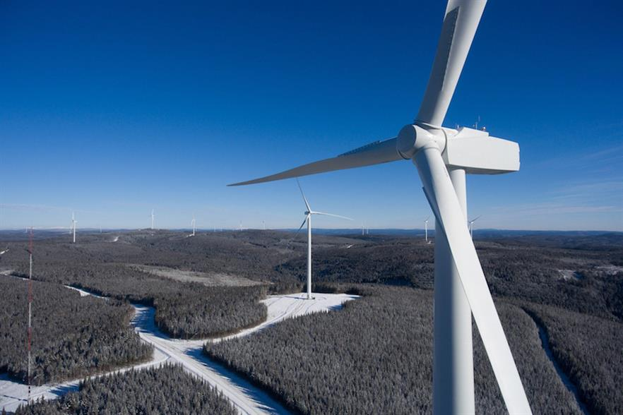 Innergex's Mesgi'g Ugju's'n wind farm (above) comprises 36 of Senvion's 3.2M144 turbines and one MM92 model
