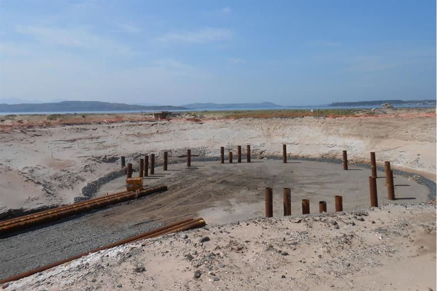 Works taking place on Mitsubishi's base at the Hunterston Test Centre