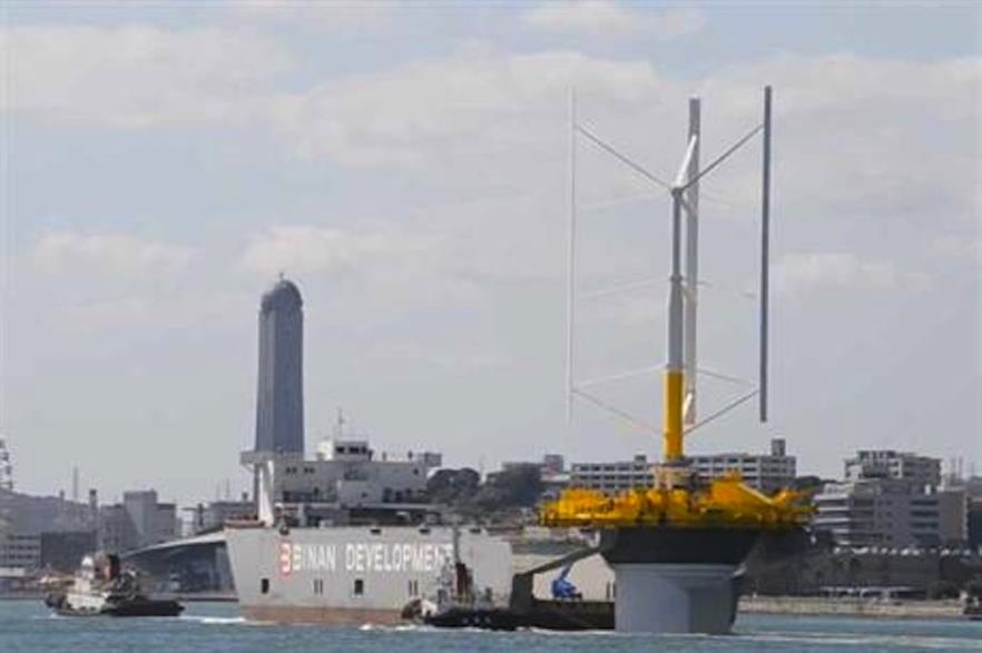 The Skwid turbine in transit for testing in 2013