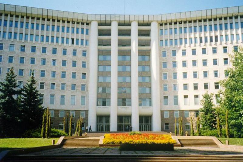 Moldovan parliament building in the capital Chisinau