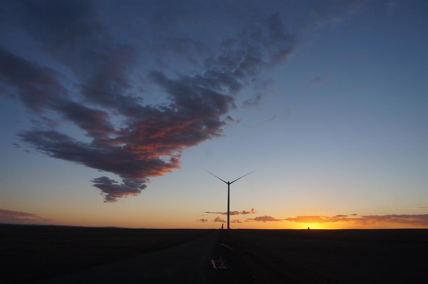 Mongolia's second wind farm, Tsetsii, was completed in June 2017