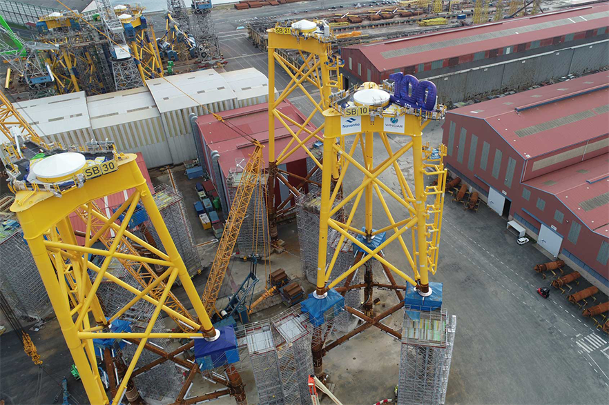 Navantia and Windar are currently producing jacket and monopile foundations for Iberdrola's St Brieuc offshore wind farm in France