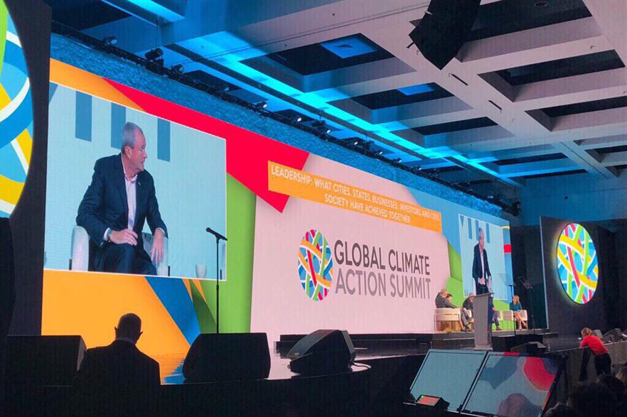 New Jersey governor Phil Murphy spoke at the Global Climate Action Summit in California (pic: @GovMurphy / Twitter)