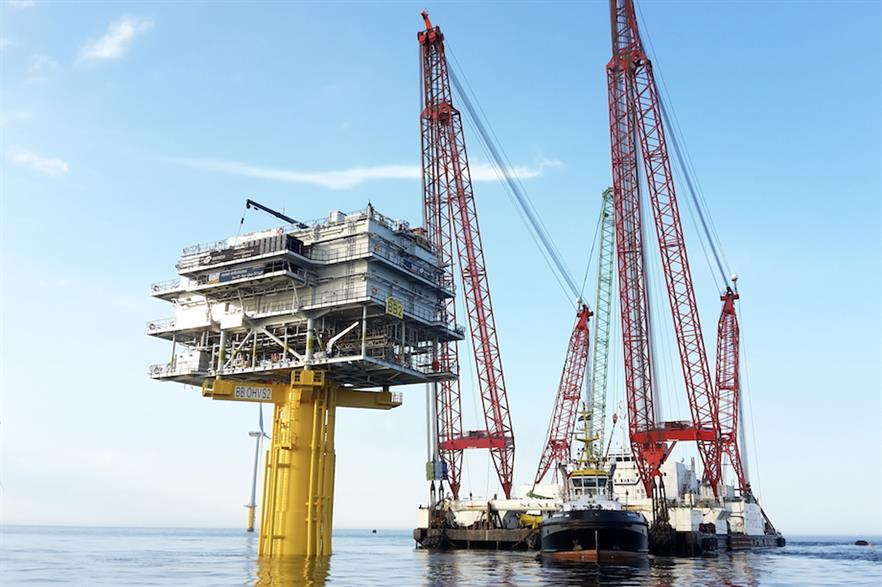 Semco had previously supp;ied the substation for the Nobelwind project (above) alongside Bladt Industries