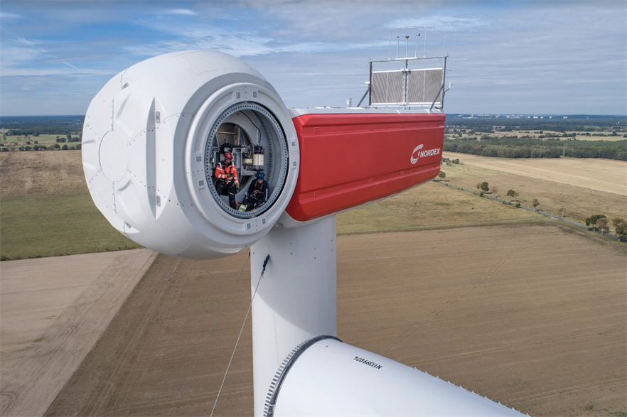 Nordex's Delta 4000 series accounted for 73% of total capacity ordered in Q1 2021