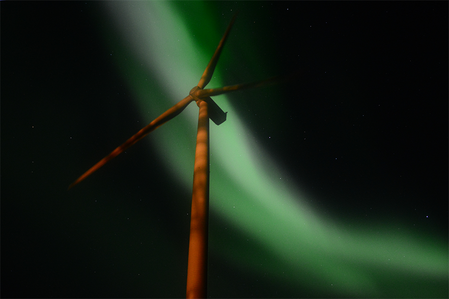 Nordex said that half of the turbines its sells in Nordic countries are typically cold-climate versions