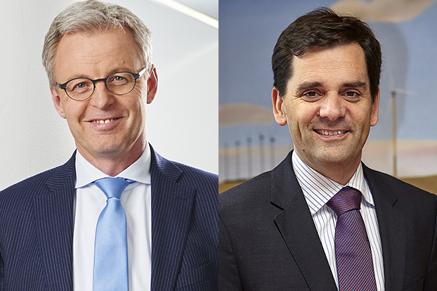 Lars Bondo Krogsgaard (left) will step down as Nordex CEO at the end of March, to be replaced by Jose Luis Blanco (left pic: Christiane Koch Hamburg)