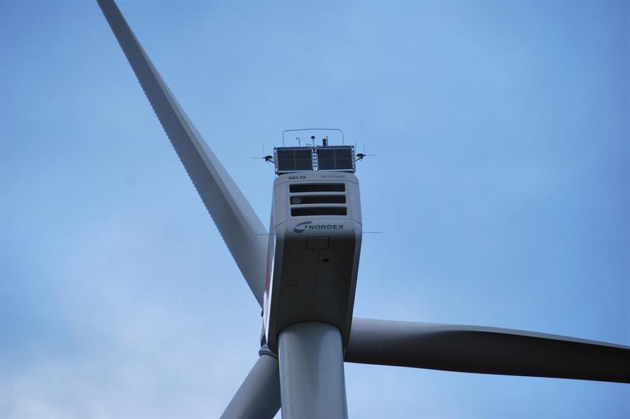 Nordex's N117 3.6MW turbine at Bargeshagen, northern Germany