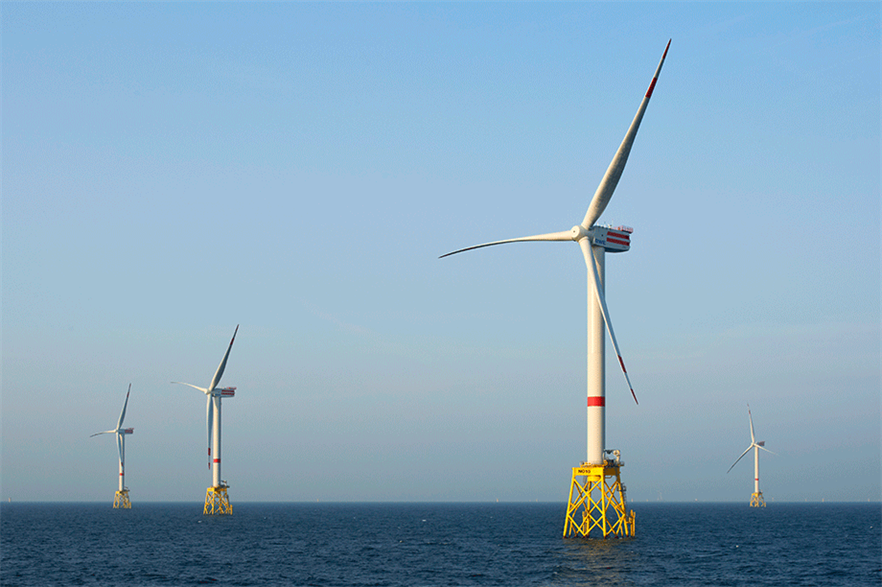 Aker Solutions previously supplied jackets for RWE's Nordsee Ost wind farm (pic credit: Jan Oelker/Senvion)
