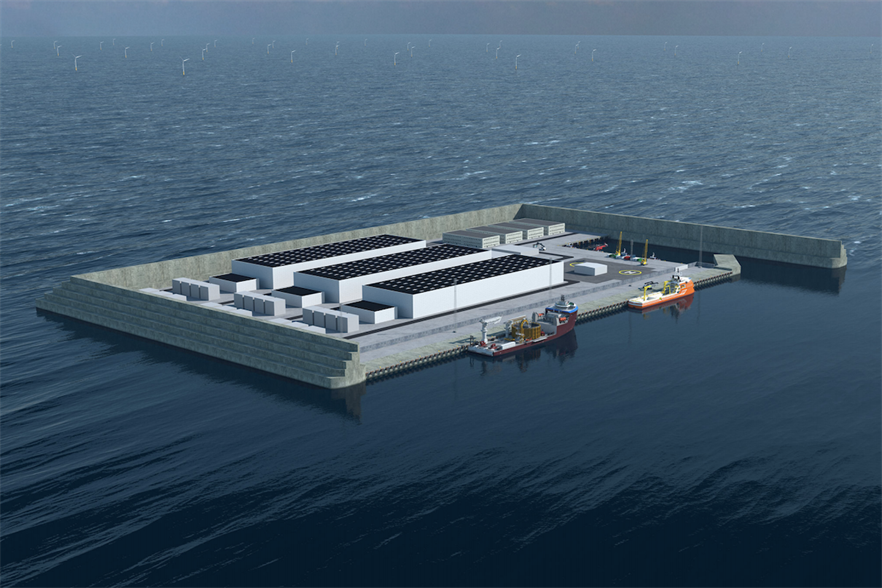 What the planned North Sea energy island could look like (pic credit: Danish Energy Agency)
