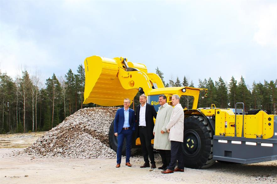 Northvolt broke ground on their new factory in April 2018, with European Commission vice president Maros Sefcovic, second from right, in attendance