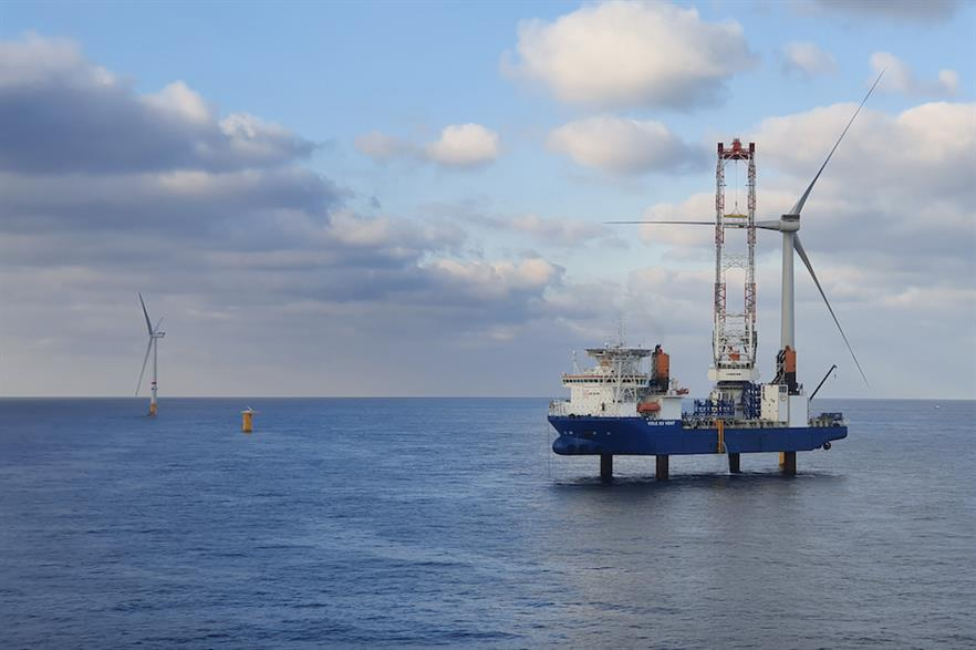 Parkwind's 219MW Northwester 2 project was one of nine European offshore wind farms connected to the grid last year