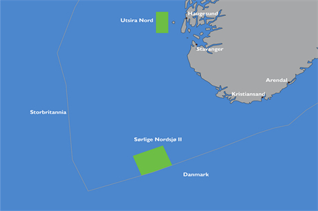 The Norwegian government is tendering licences for the Utsira Nord and Sørlige Nordsjø II sites (pic credit: NVE)