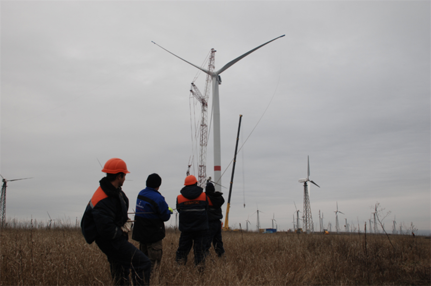 Ukraine has just over 1.2GW of operational onshore wind capacity, according to Windpower Intelligence (pic creditL UWEA)