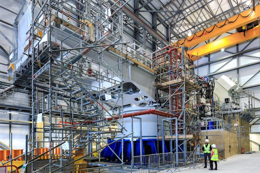 ORE Catapult's 15MW drivetrain test facility in Blyth in the north-east of England