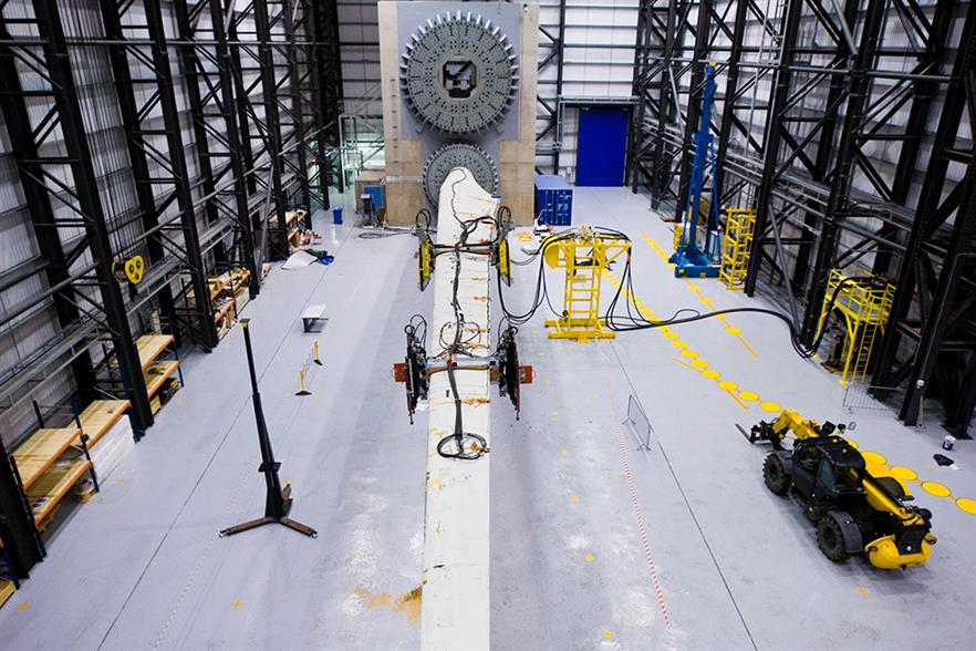 ORE Catapult's 100-metre blade test facility