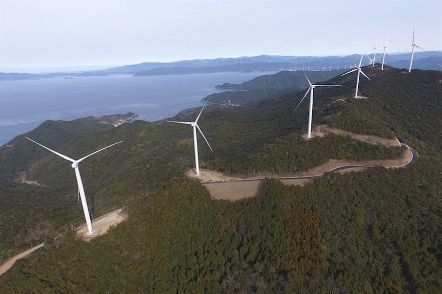 Pattern Energy's first Japanese project, the 33MW Ohorayama wind farm on Shikoku Island