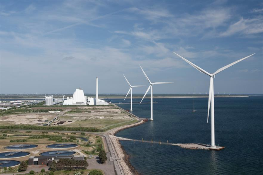 Turbines near Ørsted's Avedøre biomass plant will be used to power the hydrogen project