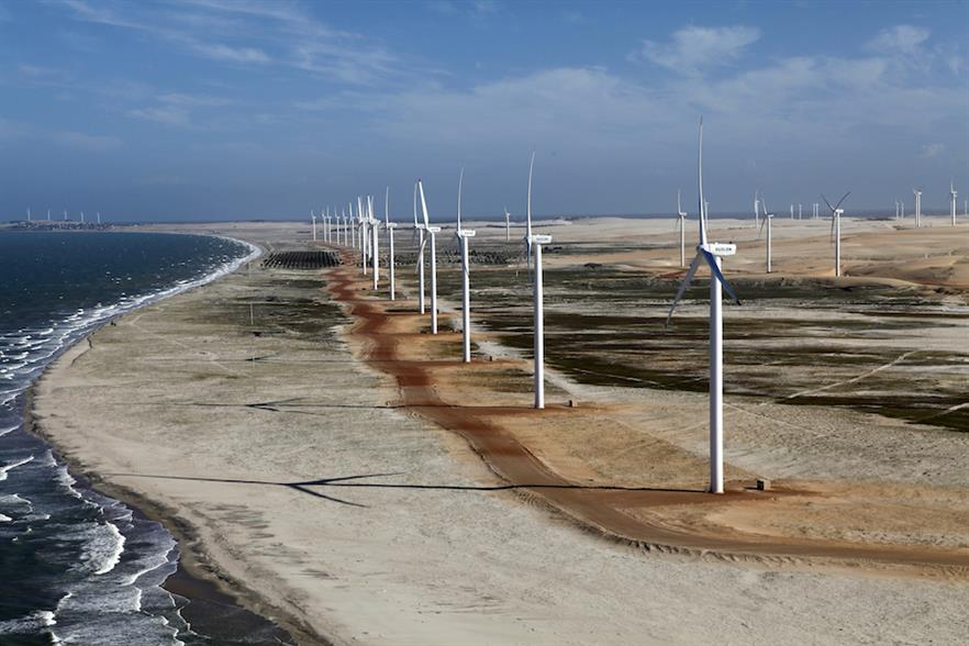 Alupar's 98.7MW Aracati wind farm in Ceará, Brazil (pic credit: ABEEólica)