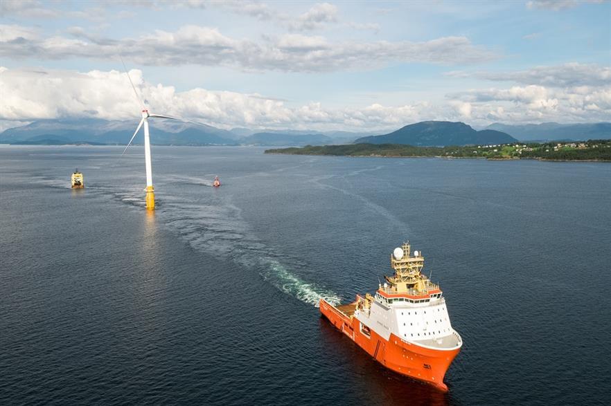 The Hywind Scotland floating offshore wind project (pic credit: Øyvind Gravås/Equinor)