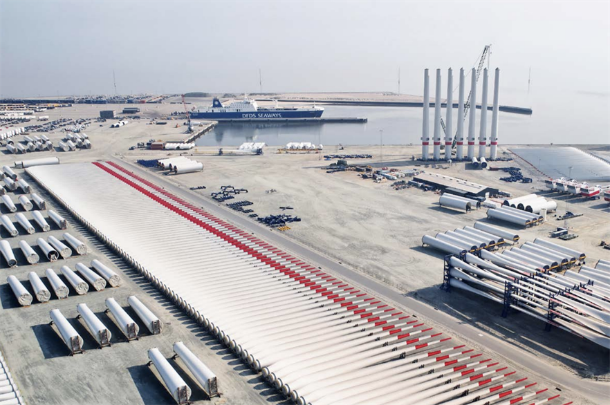 Vattenfall ill store gearboxes, generators, transformers, shafts, blades, array cables and switchgear in the Danish Port of Esbjerg (pic credit: Christer Holte)