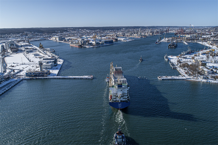 The port of Gdynia in northern Poland